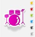 realistic design element drum set vector image