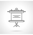 Roller screen icon line style vector image