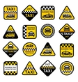 Taxi set labels vector image