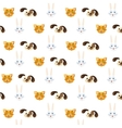 pattern pets cute background vector image