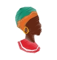 African woman silhouette vector image