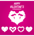 Happy valentines postcard rorschach test vector