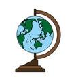 world map teach accessory vector image