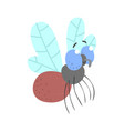 cute cartoon fly insect character vector image vector image