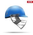 Blue Cricket Helmet Side View vector image