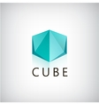 abstract cube geometric 3d logo icon vector image