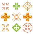 arrow cross signs vector image