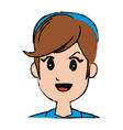 girl young smiling pretty cartoon vector image