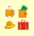 going travel icon set vector image