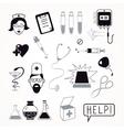 Health care and medicine icon set vector image
