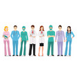 medical team isolated on white vector image