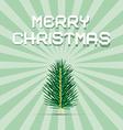 Retro Green Christmas Card vector image