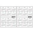 Calendar template 2017 2018 vector image vector image