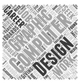 computer graphic design Word Cloud Concept vector image