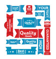 Set of retro banners and labels vector image
