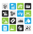 Silhouette different kind of business and industry vector image