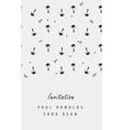 minimal invitation card or ticket vector image