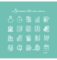 Set of Outline Finance Icons vector image