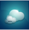Techno clouds background vector image