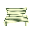 A view of bench vector image