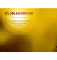 Abstract golden geometric business card background vector image