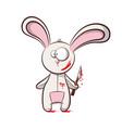 bad rabbit - horror vector image