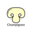 champignon thin line mushroom icon vector image