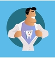Doctor Dentist Character Design Flat vector image