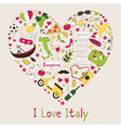 I love Italy vector image