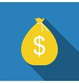 Money Bag in Modern Flat Style Icon Concept for vector image