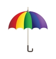 Rainbow bright umbrella simple icon vector image