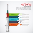 syringe for infographics vector image