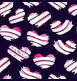 valentines hearts banner pattern 5 vector image