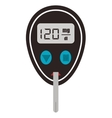 single glucometer icon vector image
