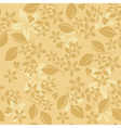 light beige floral pattern vector image