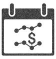 Financial Charts Calendar Day Grainy Texture Icon vector image
