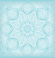 blue lace floral pattern background vector image