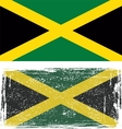 Jamaican grunge flag vector image vector image