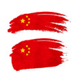 grunge brush stroke with china national flag on vector image