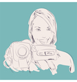 camera girl vector image