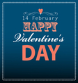 Font greeting card with hearts vector image