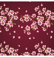 Seamless background with branch of cherry tree vector image vector image