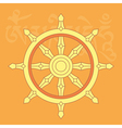 dharma wheel-buddhist religious symbol vector image vector image