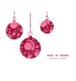 ruby Christmas ornaments silhouettes pattern frame vector image