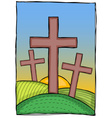 Religion - christian crosses vector image