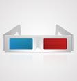 3d cinema glasses vector image