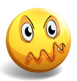 Angry face vector image vector image