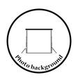 Icon of studio photo background vector image