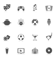 Entertainment Icons Black vector image