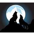 Wolves howl background vector image